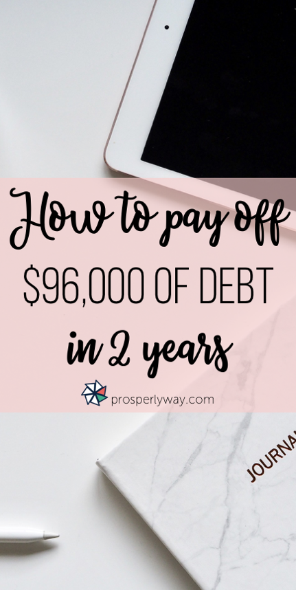 How to pay off $96,000 of debt in 2 years