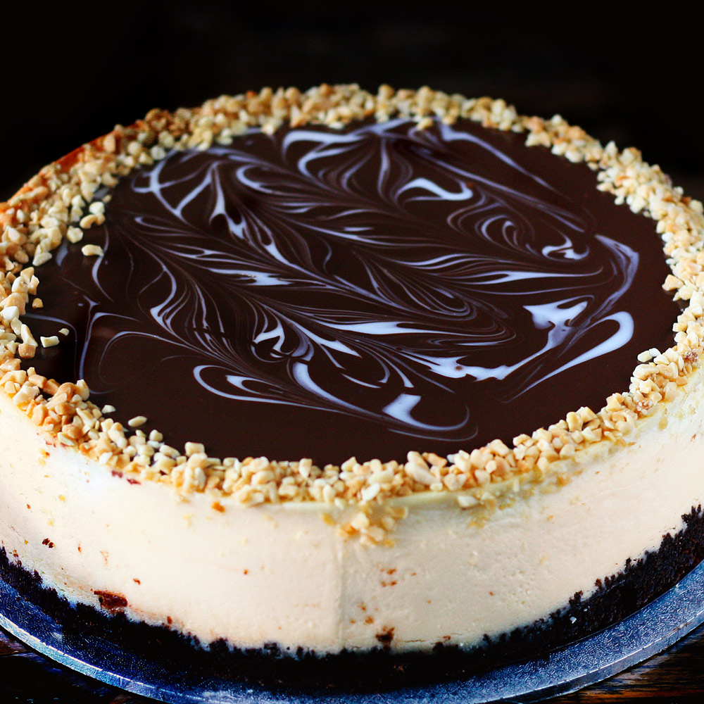 Peanut Butter New York Baked Cheesecake -  Whole: $26.90 / Half: $15.00