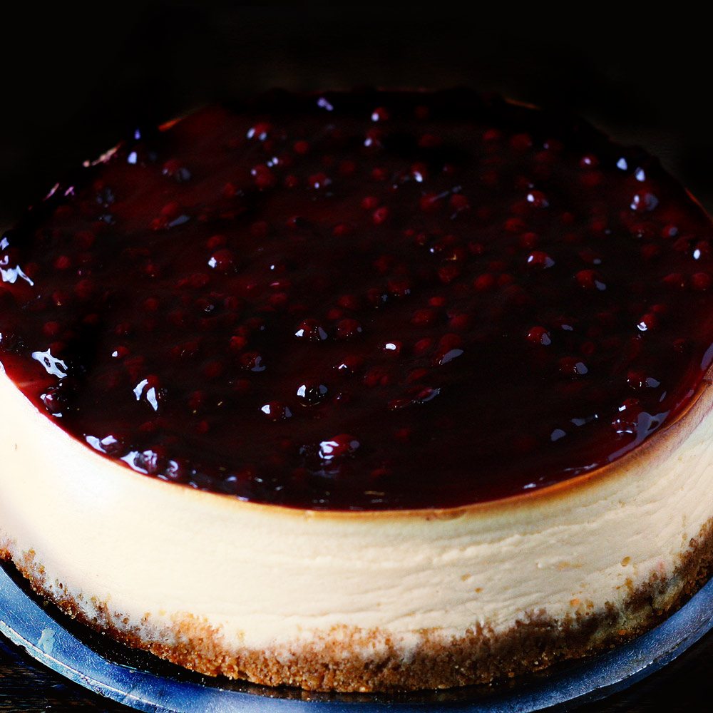 Blueberry New York Baked Cheesecake -  Whole: $26.90 / Half: $15.00