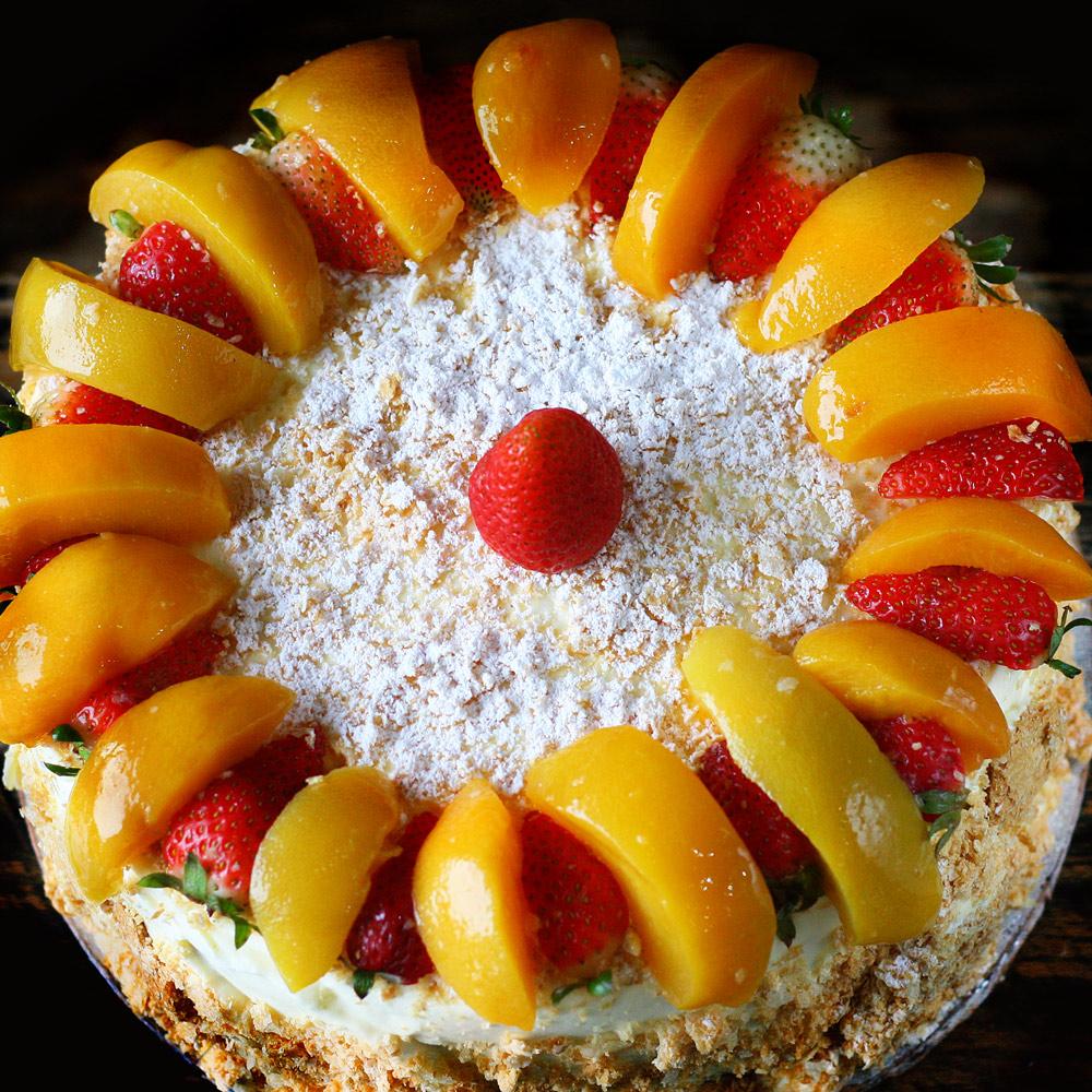 French Fruit Gateu - Whole: $25.90 / Half: $14.50