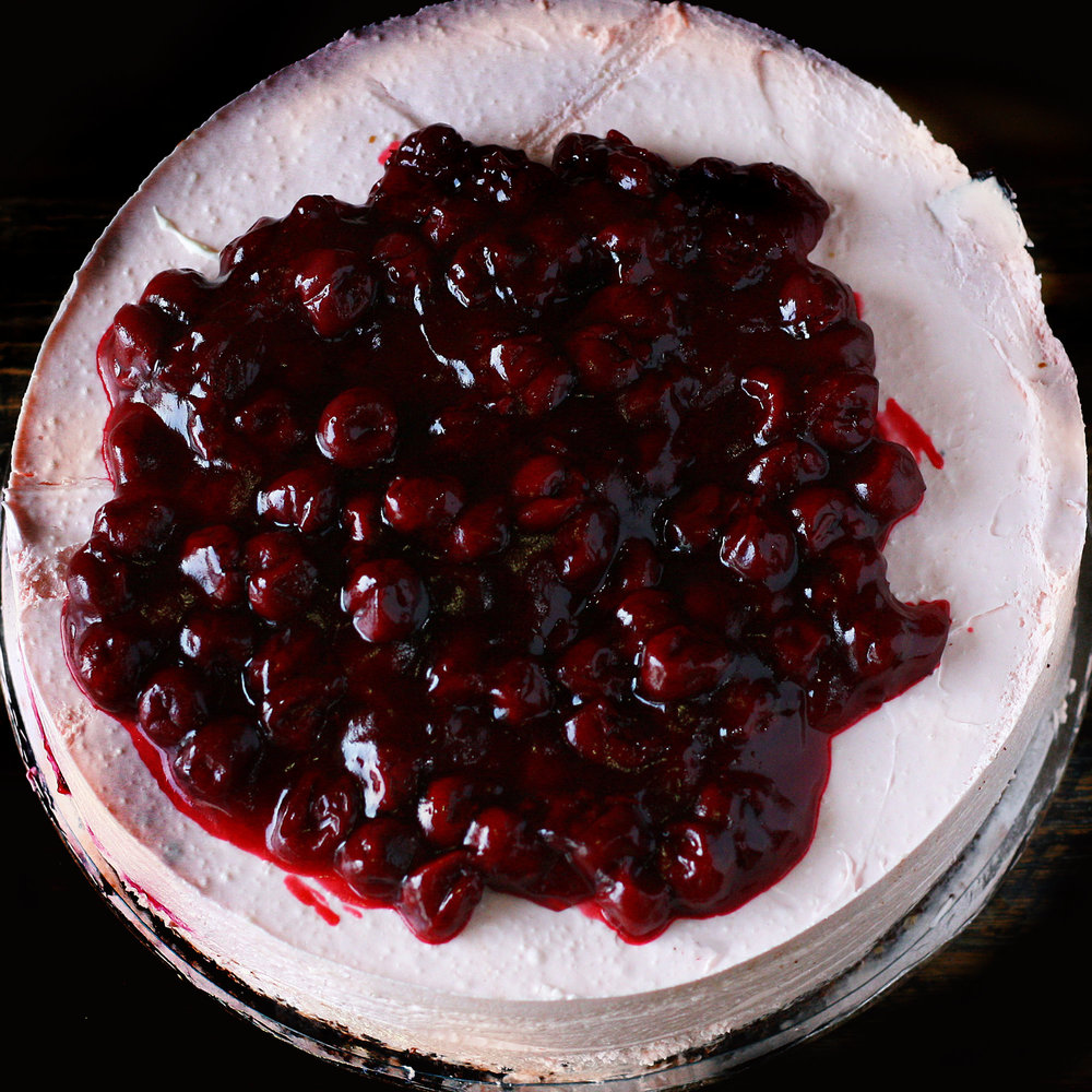 Black Forest Chilled Cheesecake - Whole: $25.90 / Half: $14.50