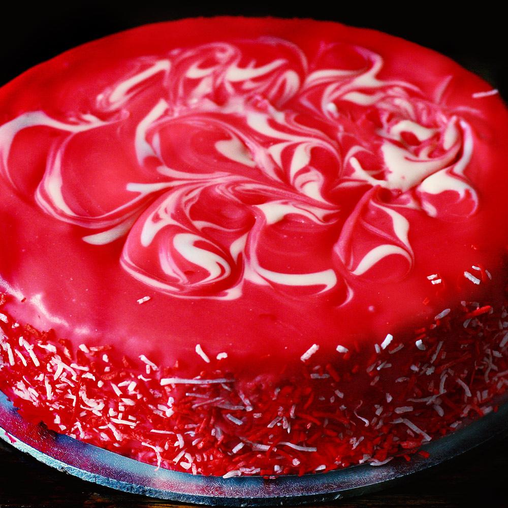 Strawberry Mud Cake - Whole: $25.90 / Half: $14.50