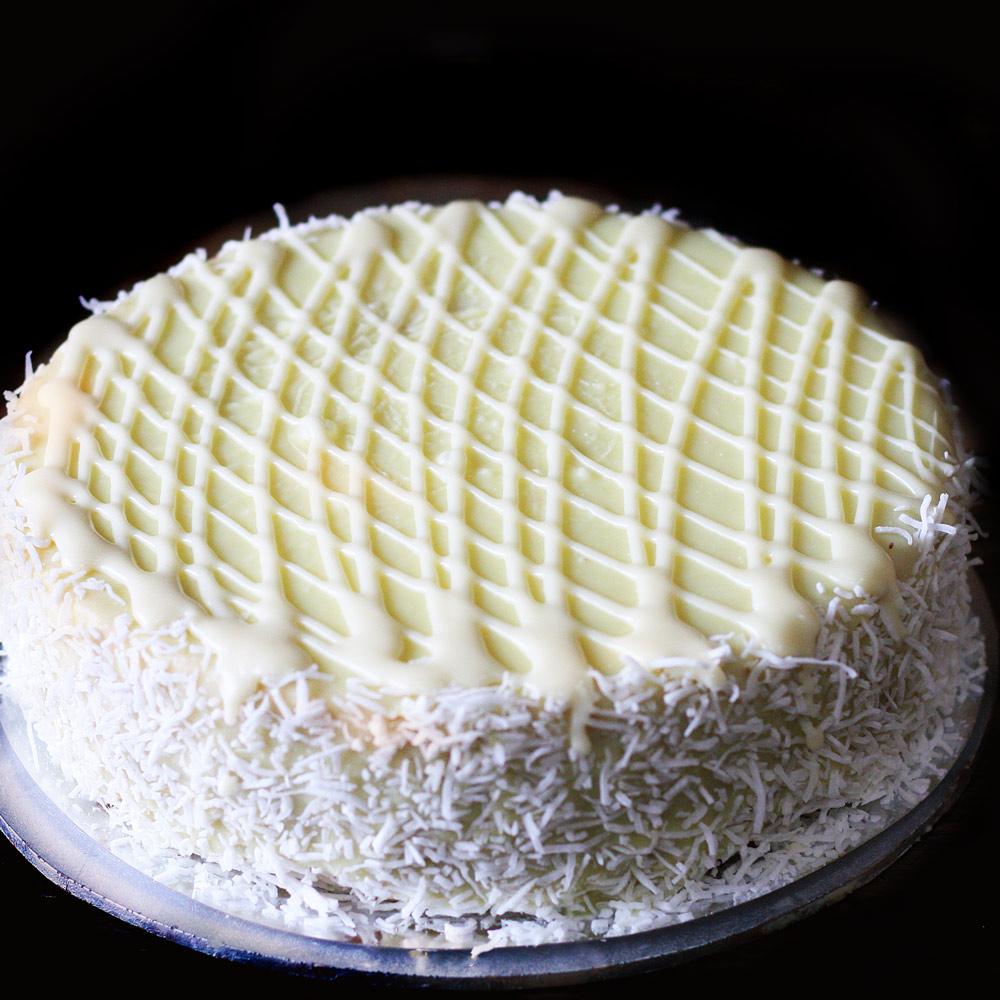 Alpine White Mud Cake - Whole: $24.90 / Half: $14.00