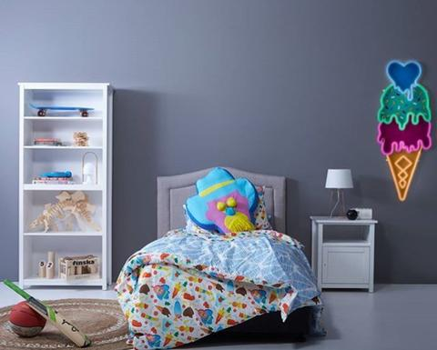 Goosebumps 'Billie' duvet cover and cushion styled by  Tini Trader  for Fantastic Furniture.