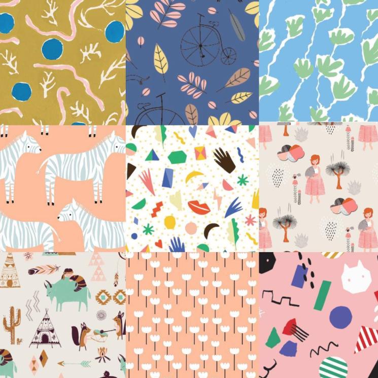Designs by  Danielle Kroll , Carolyn Suzuki , Anne Waters , Isa Form and  Karma Voce .