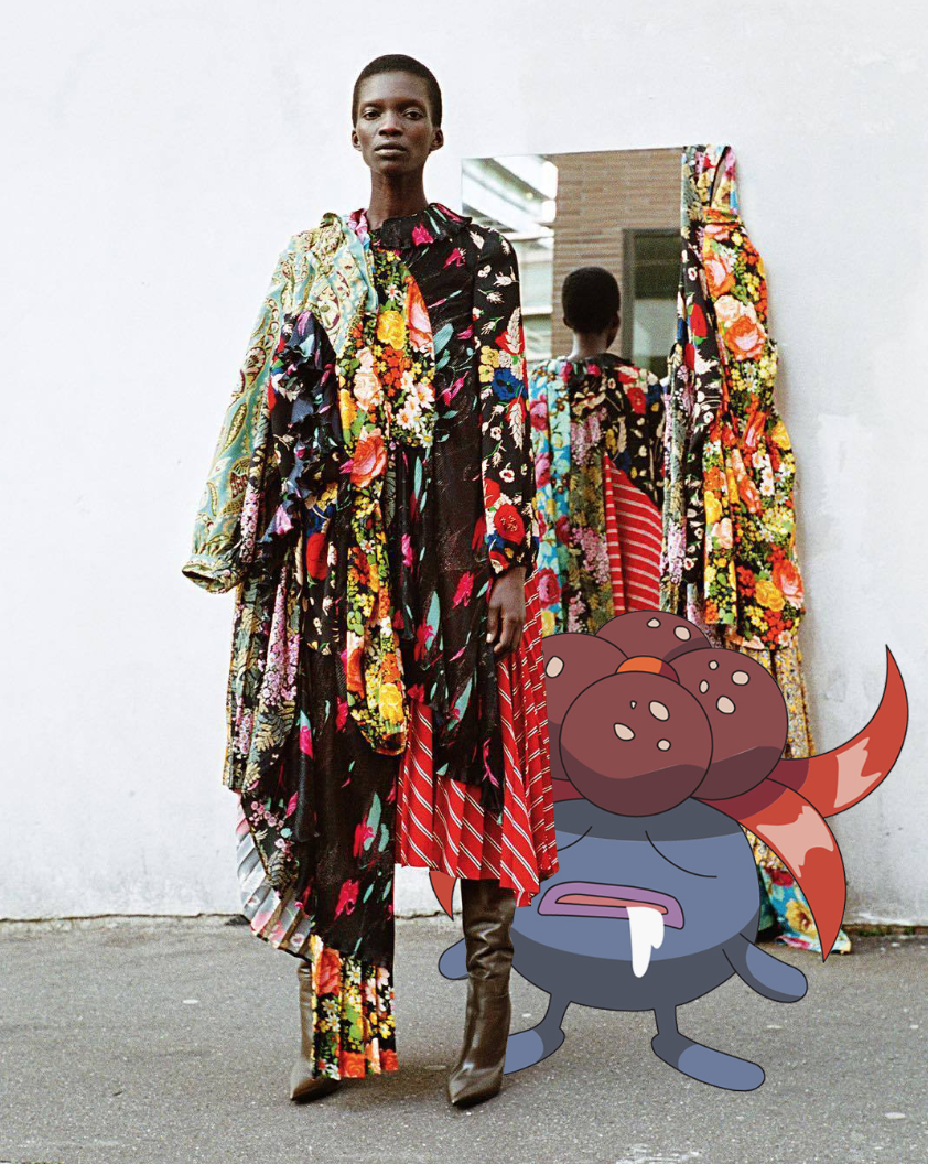Amazing  Tumblr account of Pokemon Go and fashion images that blends augmented reality with traditional textiles.