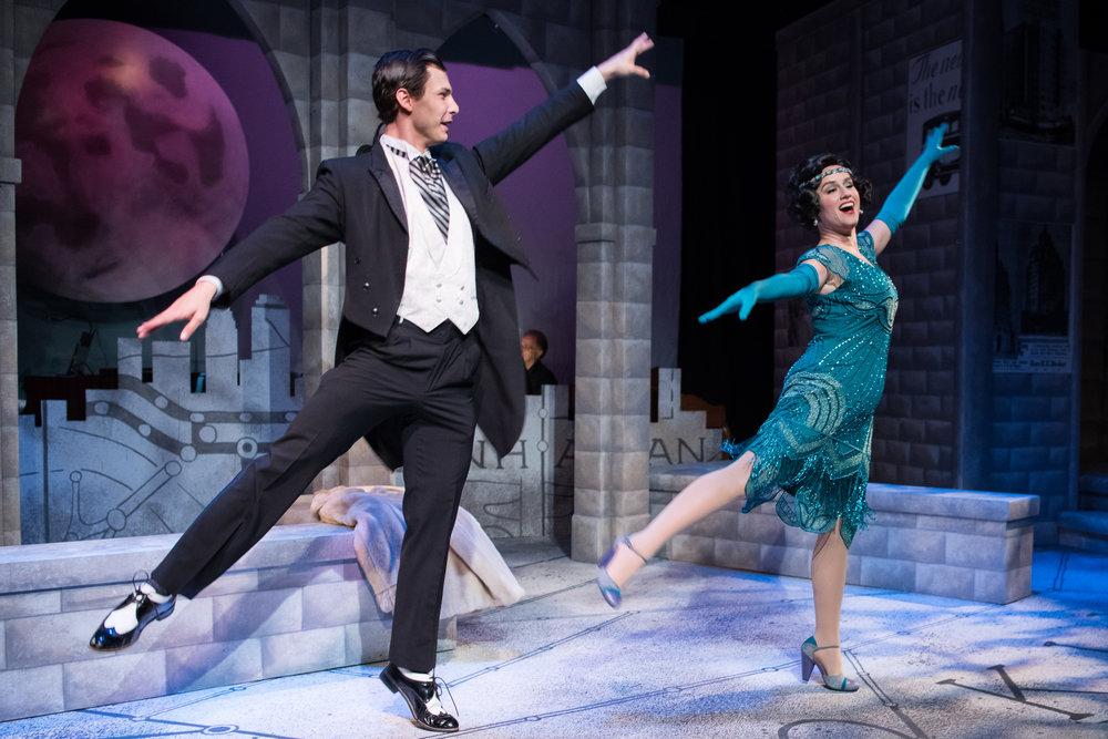 Gene (Nikita Burshteyn) and Helen (Amie Shapiro) share a dance. Photo by Ben Krantz Studio.