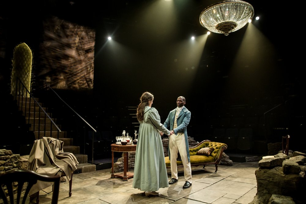A scene from a stage adaptation of  The Tenant of Wildfell Hall , performed at the York Theatre Royal in 2017.