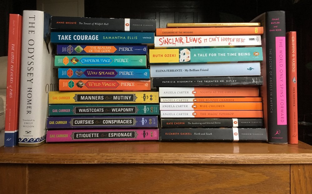 Some of the many books I read in 2018!