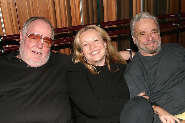 Musical director Paul Gemignani, director Susan Stroman, and composer Stephen Sondheim circa 2004, when they were collaborating on  The Frogs . Photo by Bruce Glikas, Getty Images.