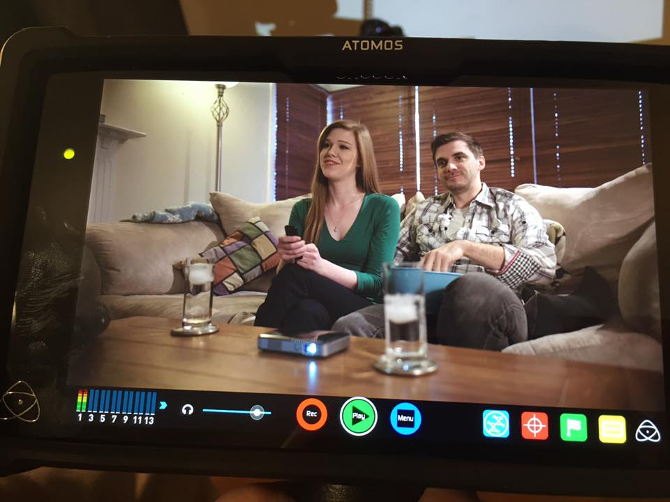 Working with Flight Creative Media, LLC! - Doing a quick commercial shoot for an at home projector. Keep the popcorn coming!