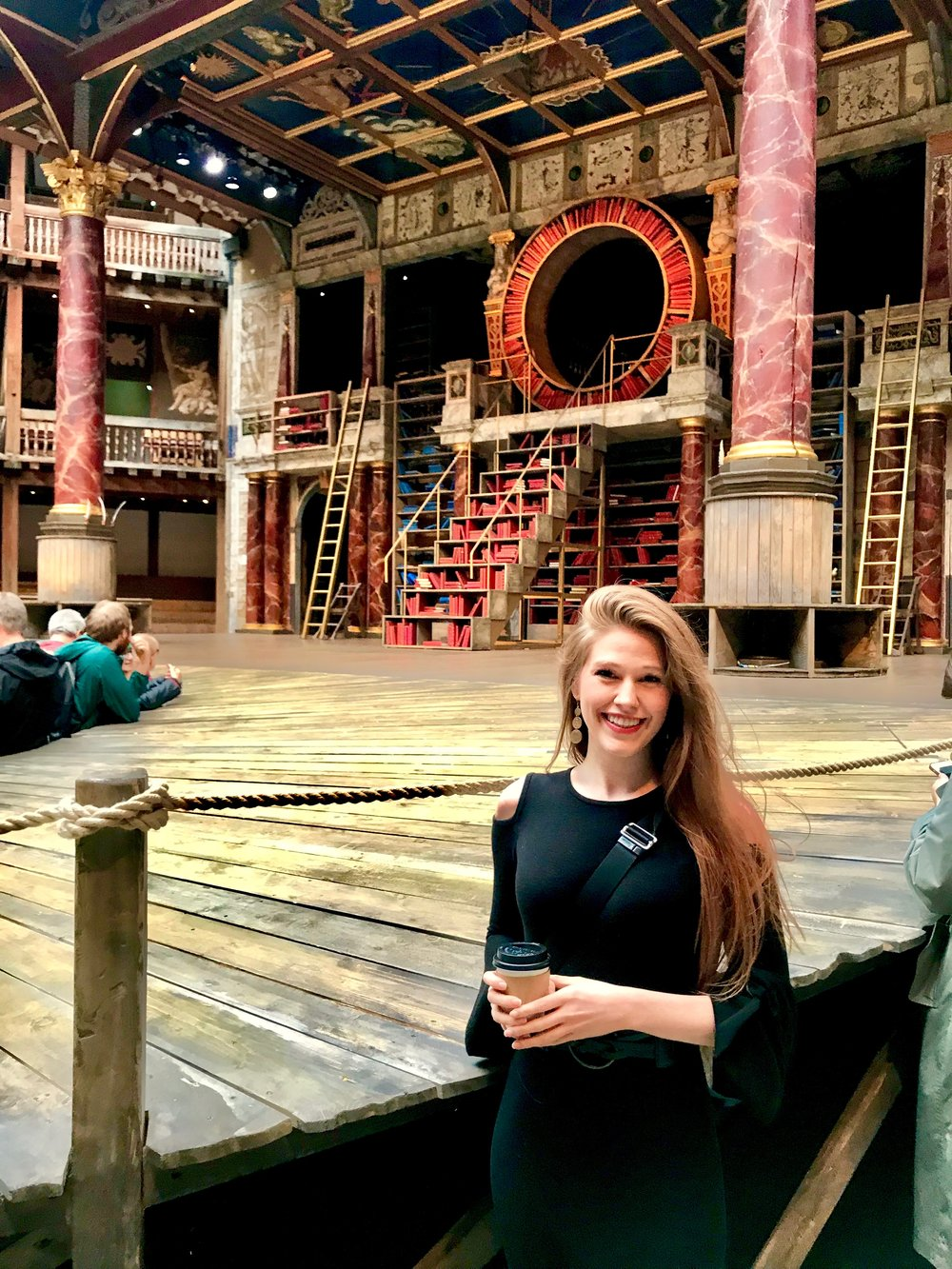 """Warming my heart with coffee and a show at the Globe! - I saw the incredibly talented all female cast perform Emilia at the Globe. Emilia is one of my all time favorite Shakespearean Women…so I was elated to say the least.""""Then let them use us well: else let them know, The ills we do, their ills instruct us so"""".(Emilia- Act IV, Scene 3 of Othello)"""