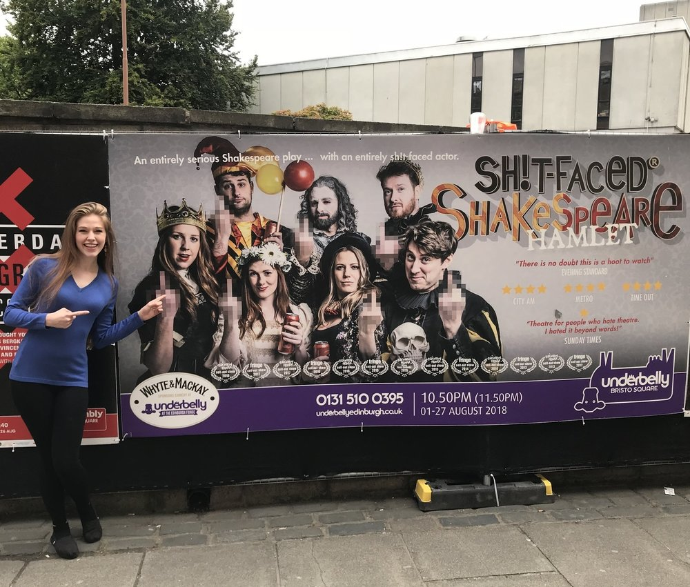 Seeing Sh*t-Faced Shakespeare perform in Edinburgh and London! - I had an incredible time seeing my London company colleagues perform not only in Hamlet at the Edinburgh Fringe, but Romeo and Juliet at Leicester Square Theatre as well!