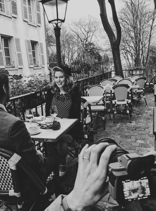 Jan. 13th, 2018- Last Day of the Parisian Film Shoot!  - 1950's feelings all day! I was surrounded by a talented and dedicated team. I feel so fortunate to have worked with these people, at this time, on this particular story.