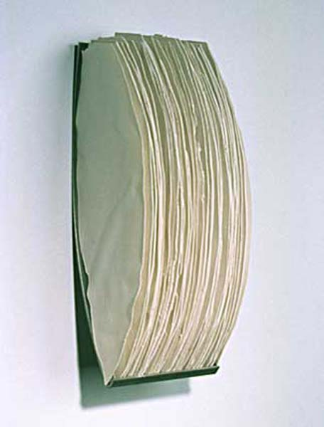 """39 Shards , 1999  16"""" x 6"""" x 6.5"""", Porcelain and Steel"""