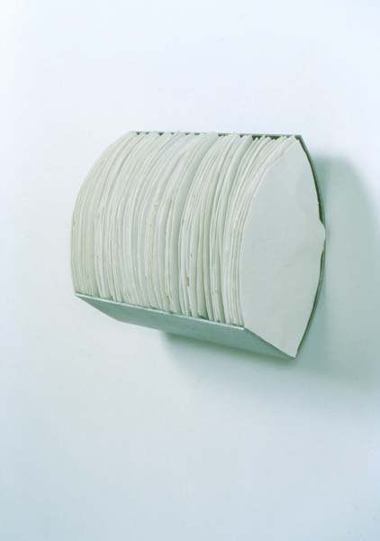 """72 Shards , 1999  9.5"""" x 13.5"""" x 5.5, Porcelain and Steel"""