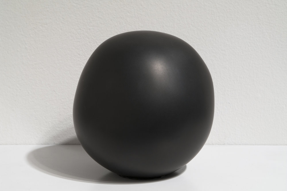 "Daily Practice, Sphere, no. 26, 2010  5"" x 4"" x 4.25"", Solid graphite"
