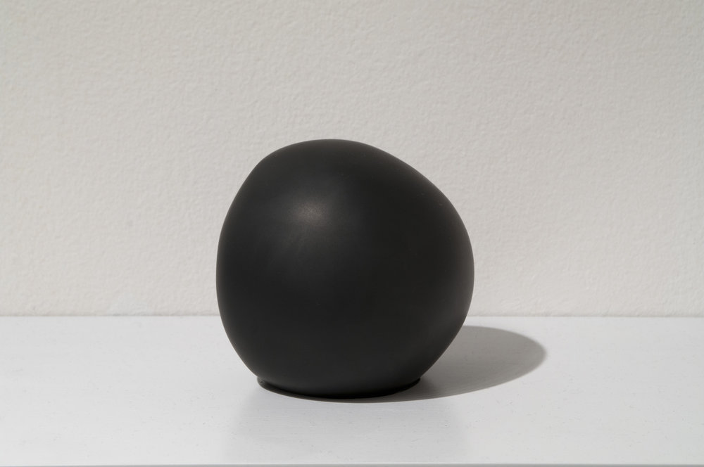 "Daily Practice, Sphere no. 1, 2012  5"" x 4"" x 4.25"", Solid Graphite"
