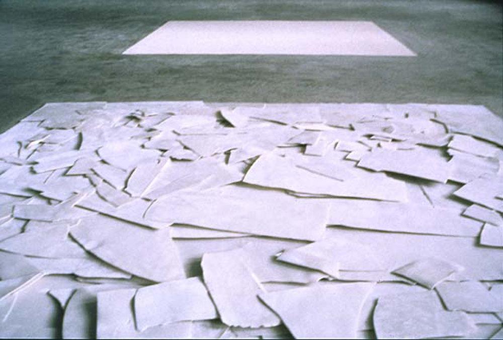 Shard Square Installation , 1997, (detail)  Europees Keramisch Workcentrum, s'Hertogenbosch, NL  Dimensions variable, Porcelain