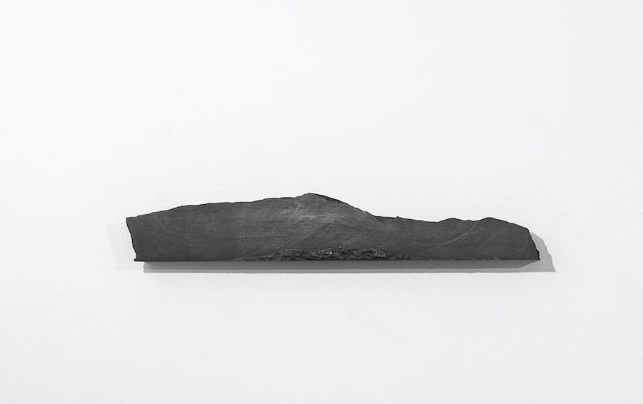 "Foundation II, no.1, 2017  Solid graphite, 48"" x 8"" x 5""  Photo: Maris Hutchinson/EPW Studio; courtesy of The Drawing Center"