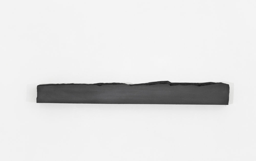 "Foundation IV, no.1,  2017  46"" x 4.25"" x 5.5"", Solid graphite"
