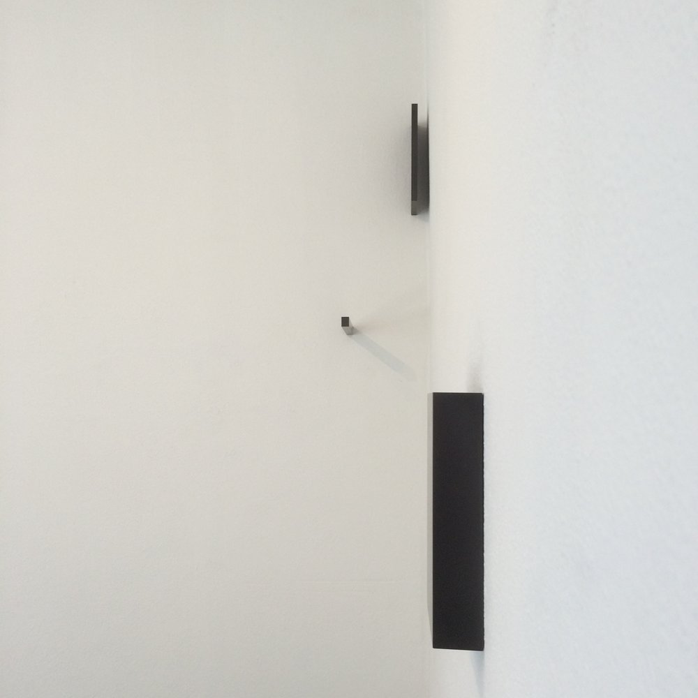 exhibitions 2d (installation view, 2016)  Dimensions variable, Solid graphite