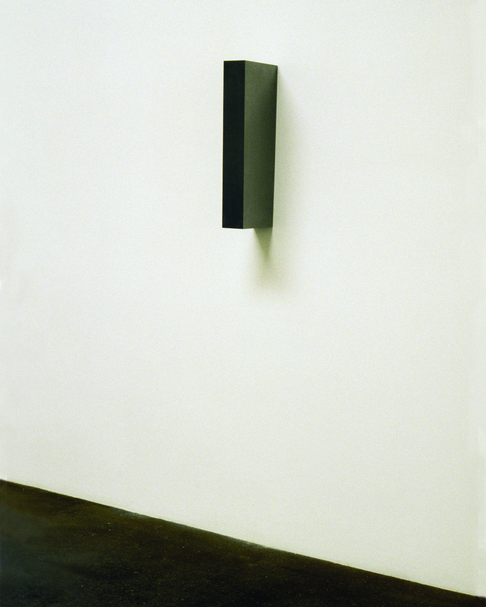 "Untitled (Asymmetrical Form no. 4), 2007  Solid graphite, 21.06"" x 3.25"" x 8.06"""