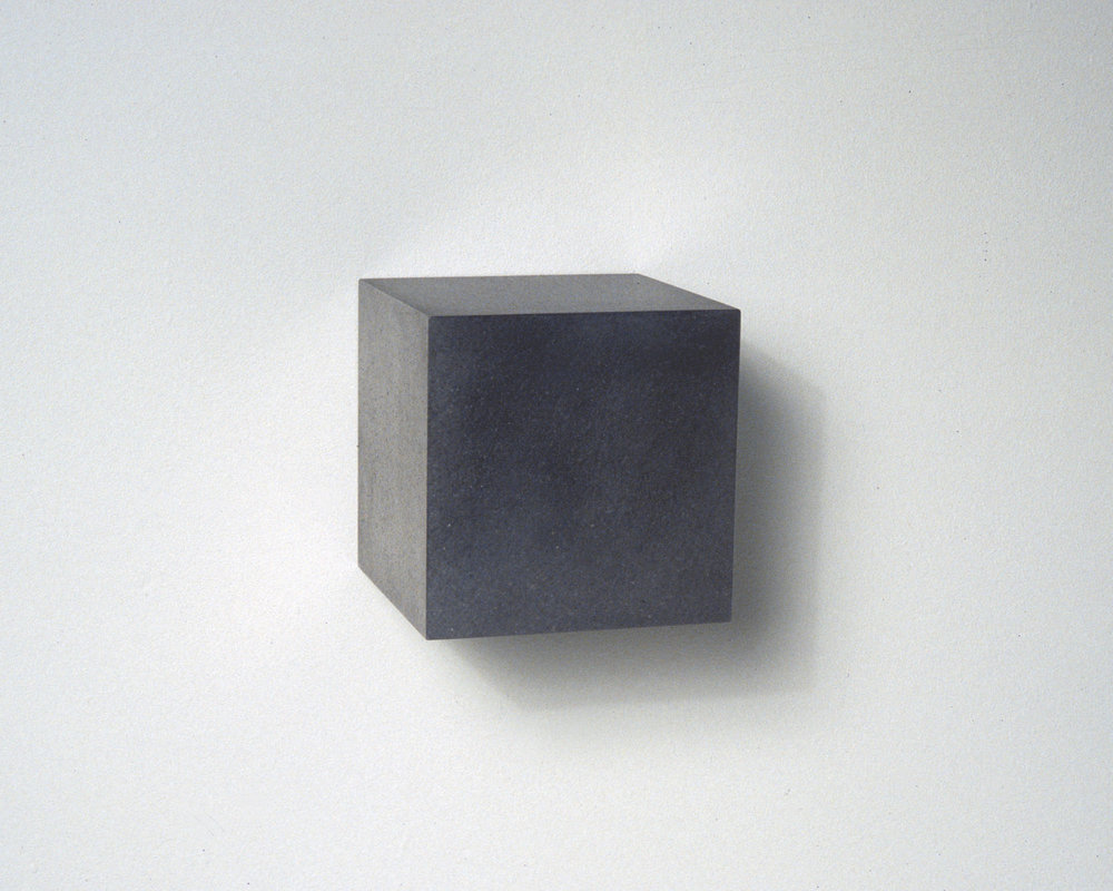"Untitled, Graphite Cube, no. 4 , 2006  4"" x 4"" x 4"", Solid graphite"