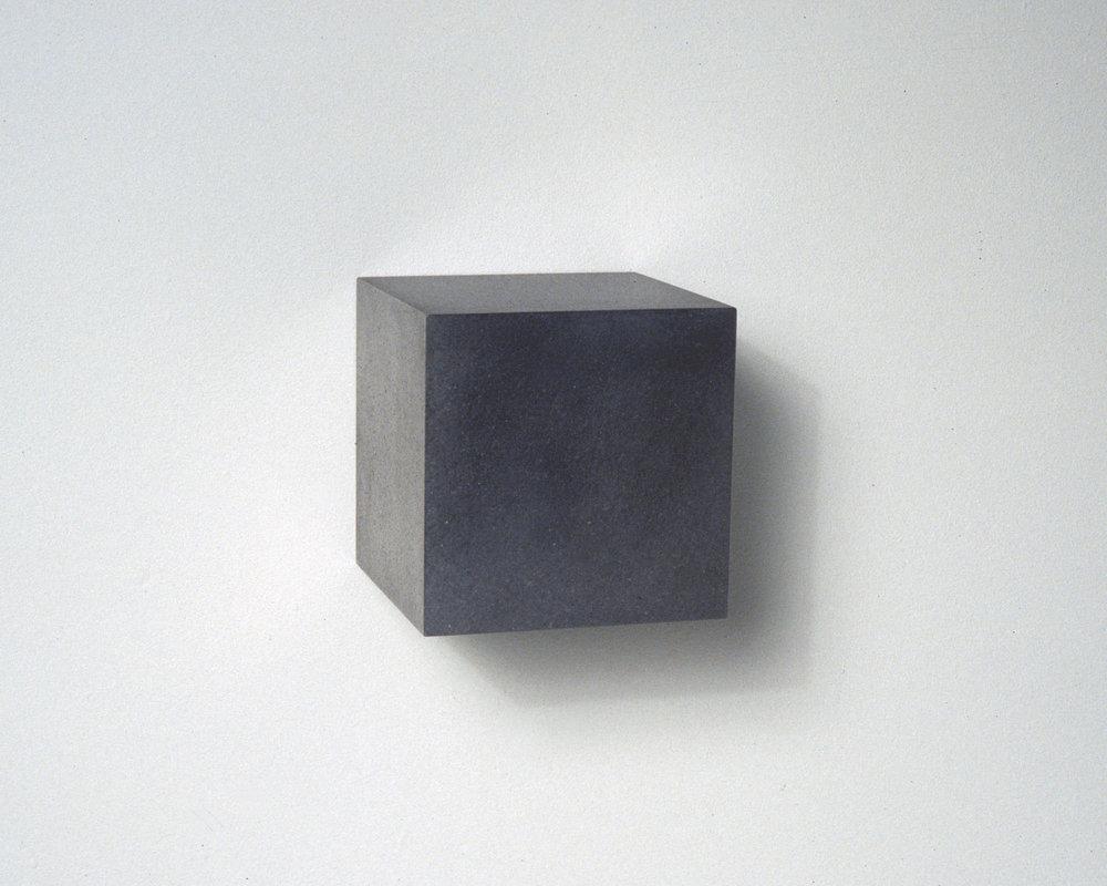 Untitled, Graphite Cube, No. 4, 2006