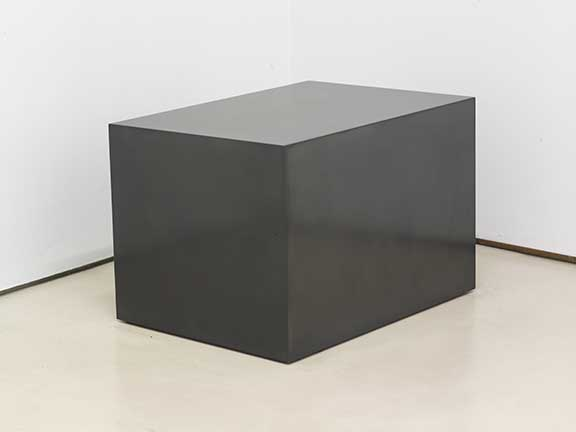 "Tilted Rectilinear Solid, 2008  Solid graphite, 14.5"" x 22.5"" x 15.5"""