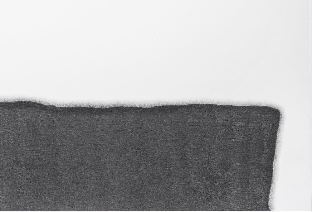 "1:1 Foundation III, no. 1 @The Drawing Center, 2017  (detail view)   Graphite pencil on paper, 32.13"" x 52"" (paper size)  Photo: John Vokoun"