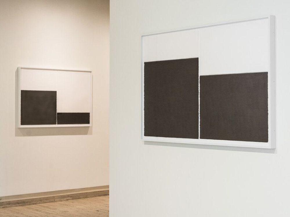 "Unfolding Center no.5, 2016 (right)  Graphite pencil on paper, 30"" x 44"" (paper size)  Photo: Courtesy of Sheldon Museum of Art"