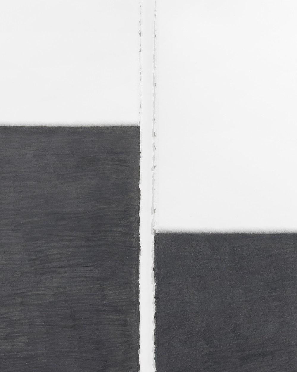 "Unfolding Center no.1  (detail view), 2011-2013  30"" x 22"", graphite pencil on paper"