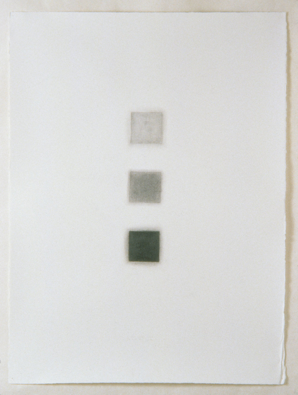 "Untitled (aerial view of ekwc installations), 1997  30"" x 22"", graphite pencil on paper"