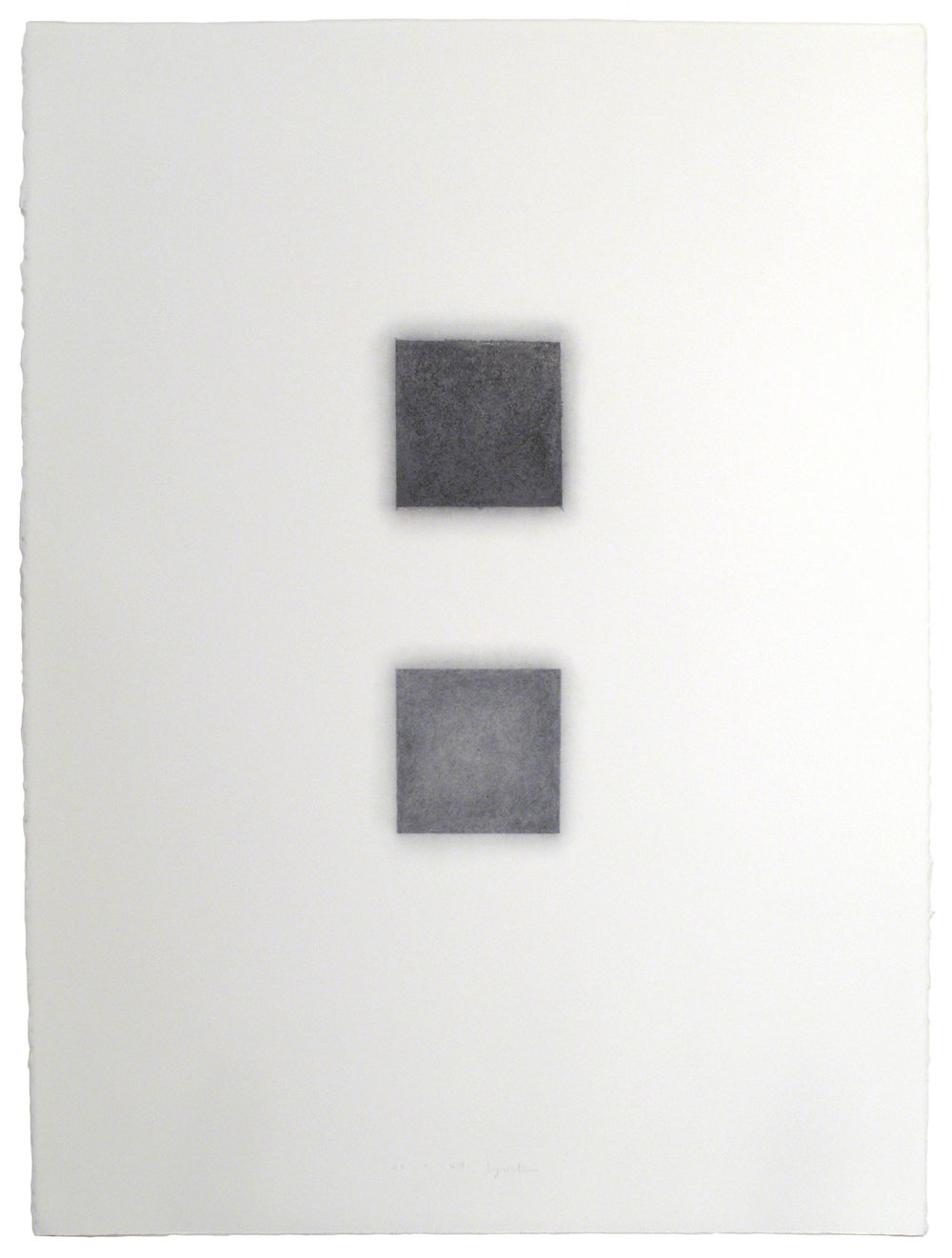 "Skewed Square, no. 2, 3.1.07, 2007  Graphite pencil on paper, 30"" x 22"""