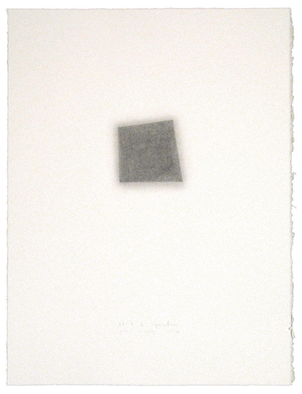 "Grey Study, no. 2, 21.9.06, 2007  Graphite pencil on paper, 30"" x 22"""