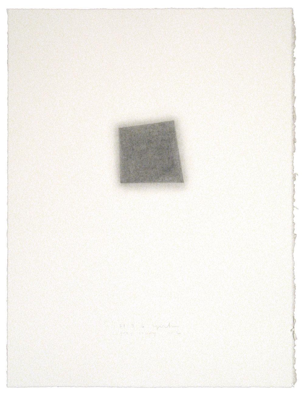 "Grey Study, no. 2 , 21.9.06, 2007  30"" x 22"", graphite pencil on paper"