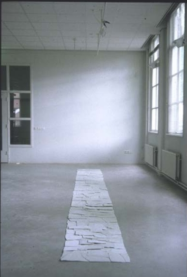 Perceived as a Rectangle, s'Hertogenbosch, NL, 1997  Porcelain, 20' x 2', 6m x .5m