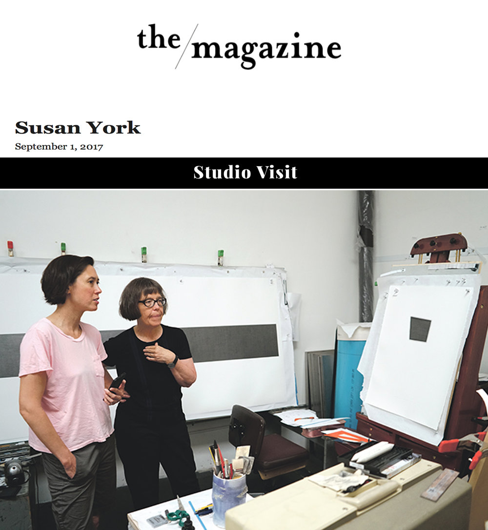 THE Magazine   Studio Visit: Susan York   By Chelsea Weathers August, 30, 2017