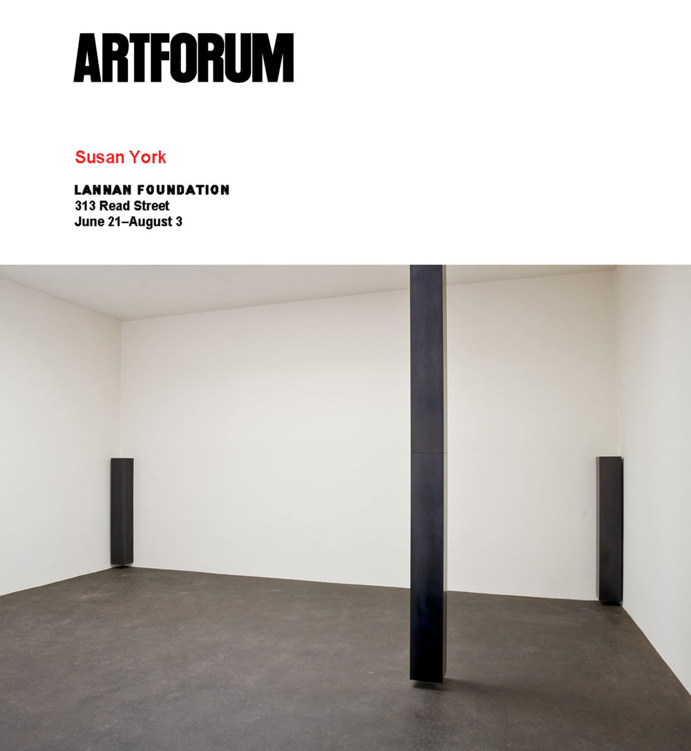 Art Forum   Critics Picks: Susan York   By   Blake Gopnik July, 2008
