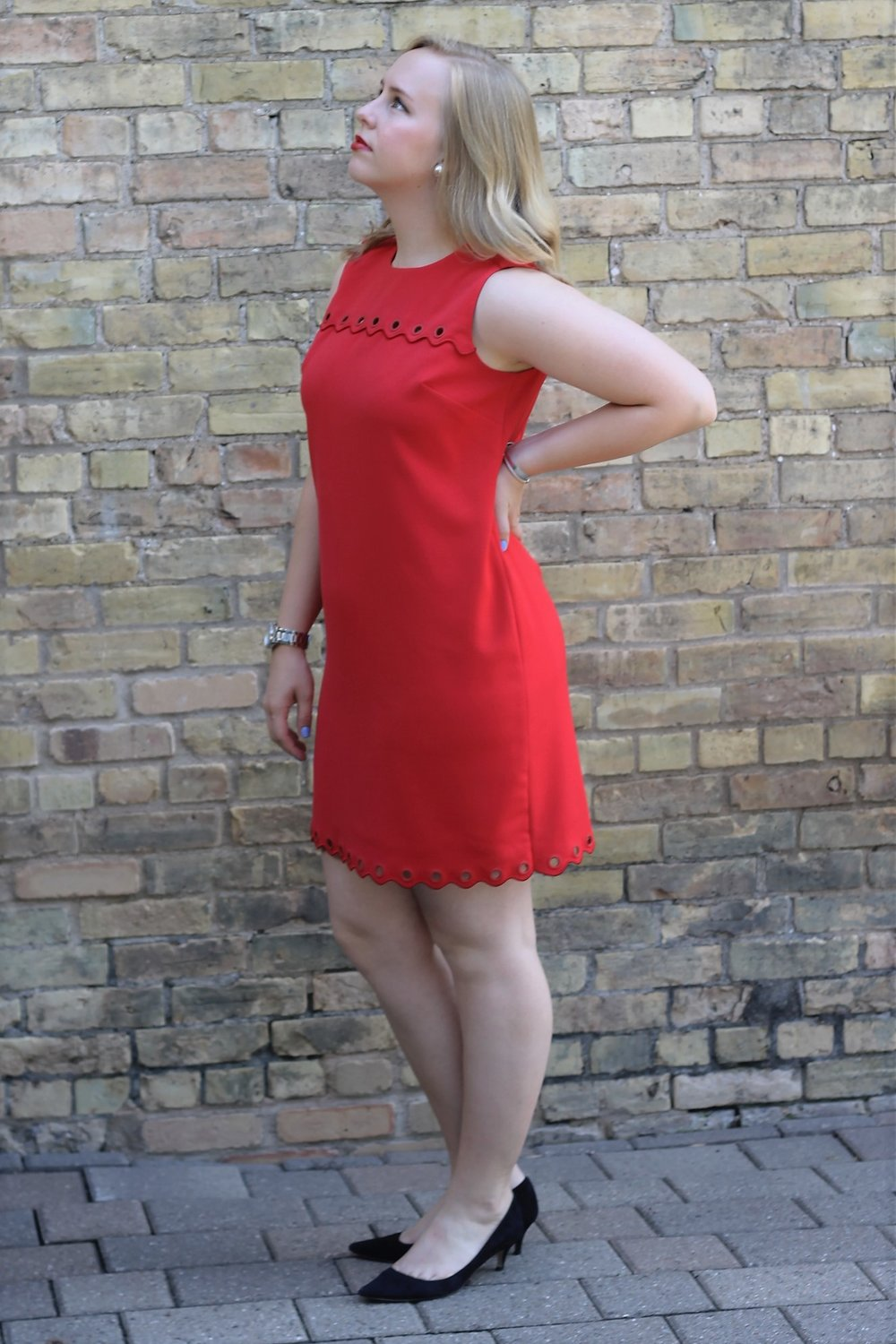 First Post   Red Summer Dress Transitions to Business Wear   Work & What She Wore