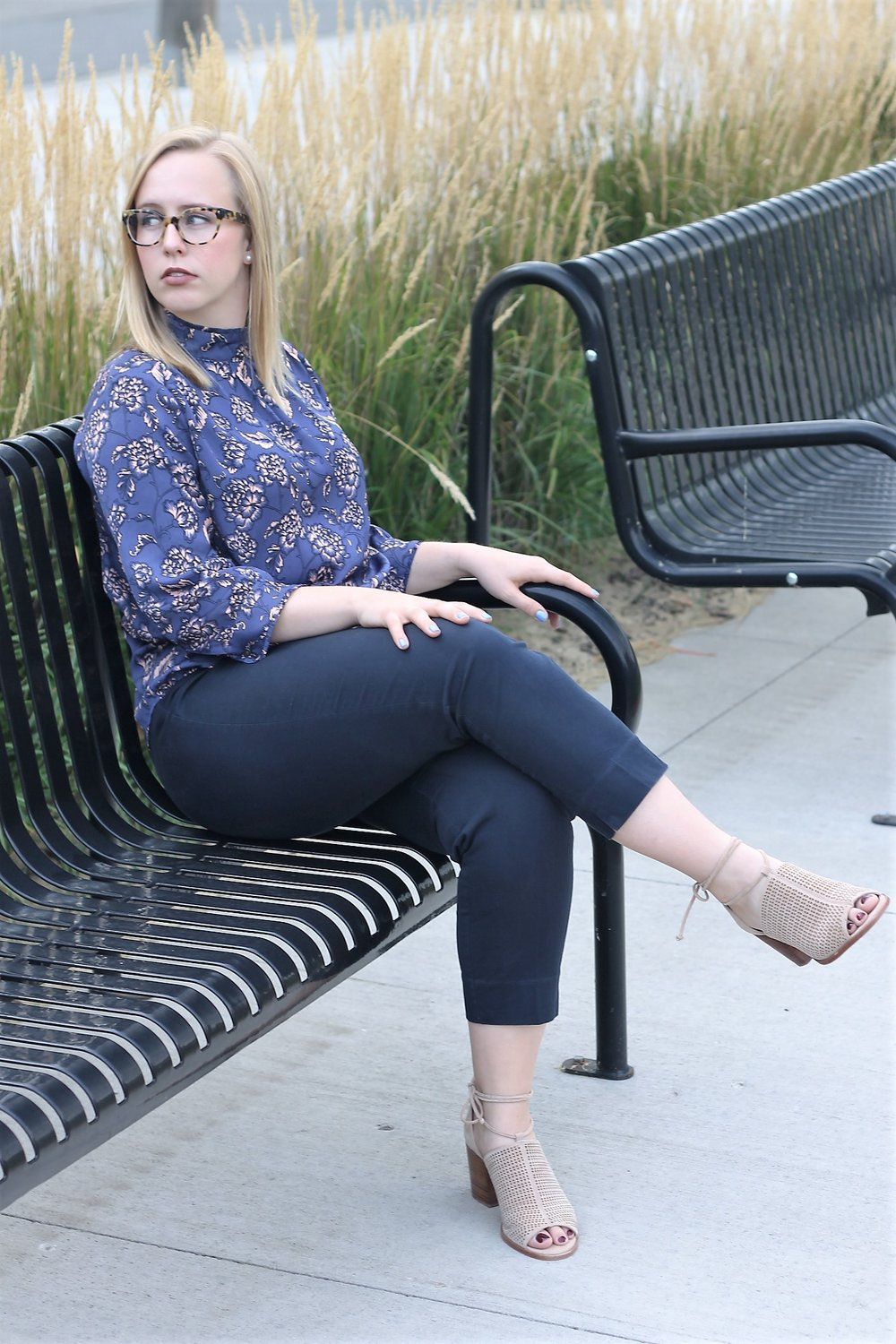 Modest Top in a Bright Print Makes a Big Impact | Work & What She Wore