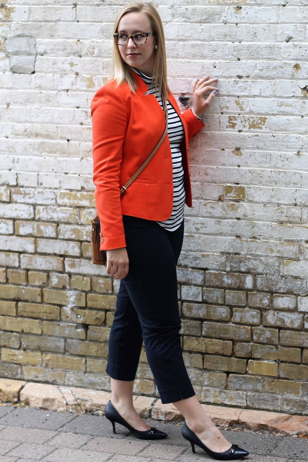 Striped Series | A Bright Blazer for a Smart Look at the Office