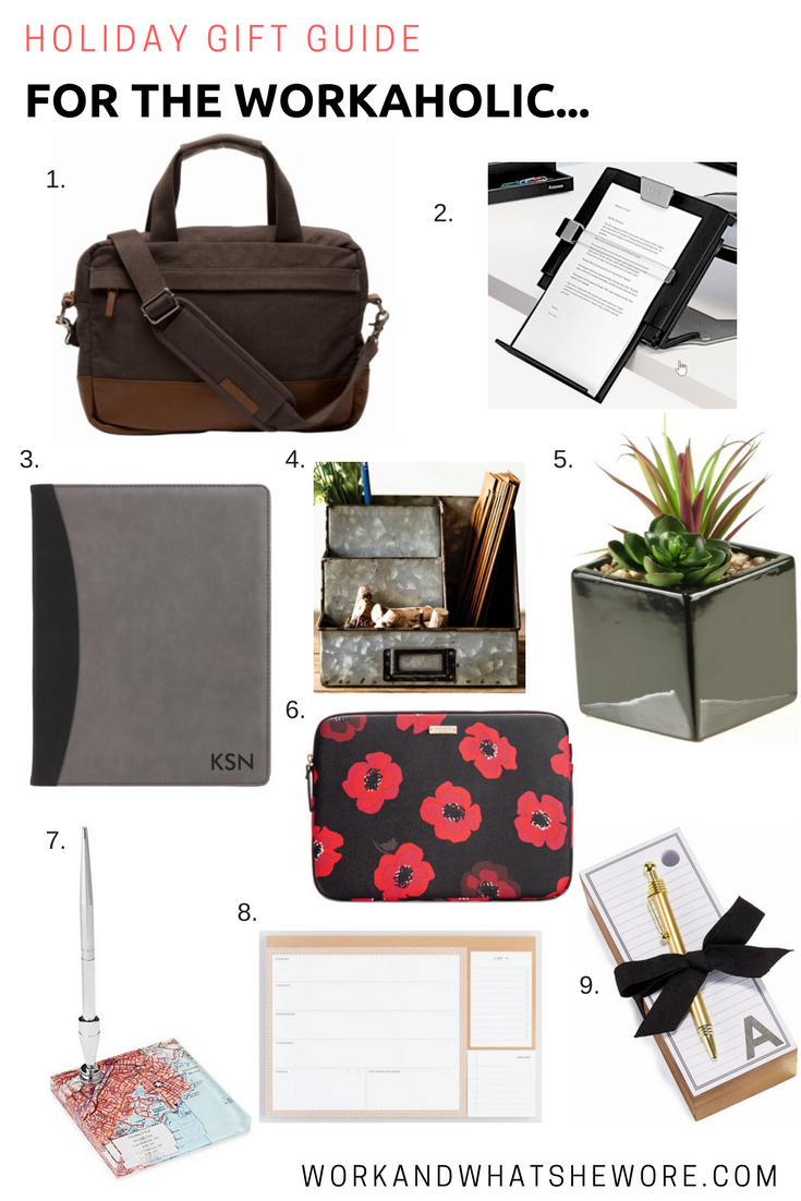 Holiday Gift Guides | For the Workaholic | Work & What She Wore