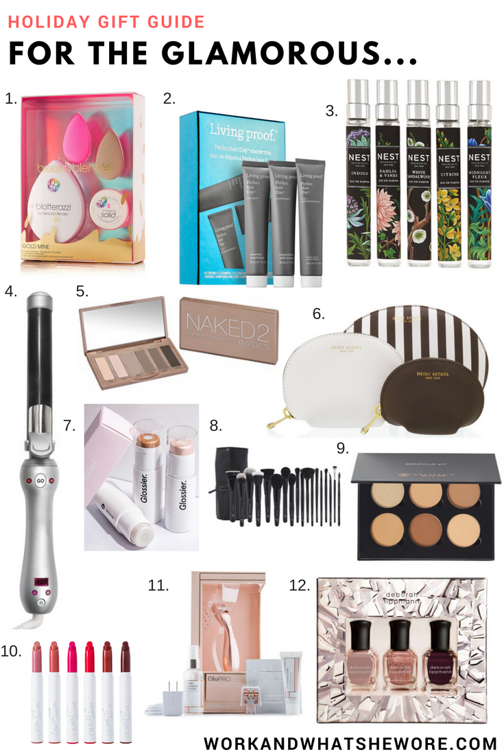 Holiday Gift Guides | For the Glamorous | Work & What She Wore