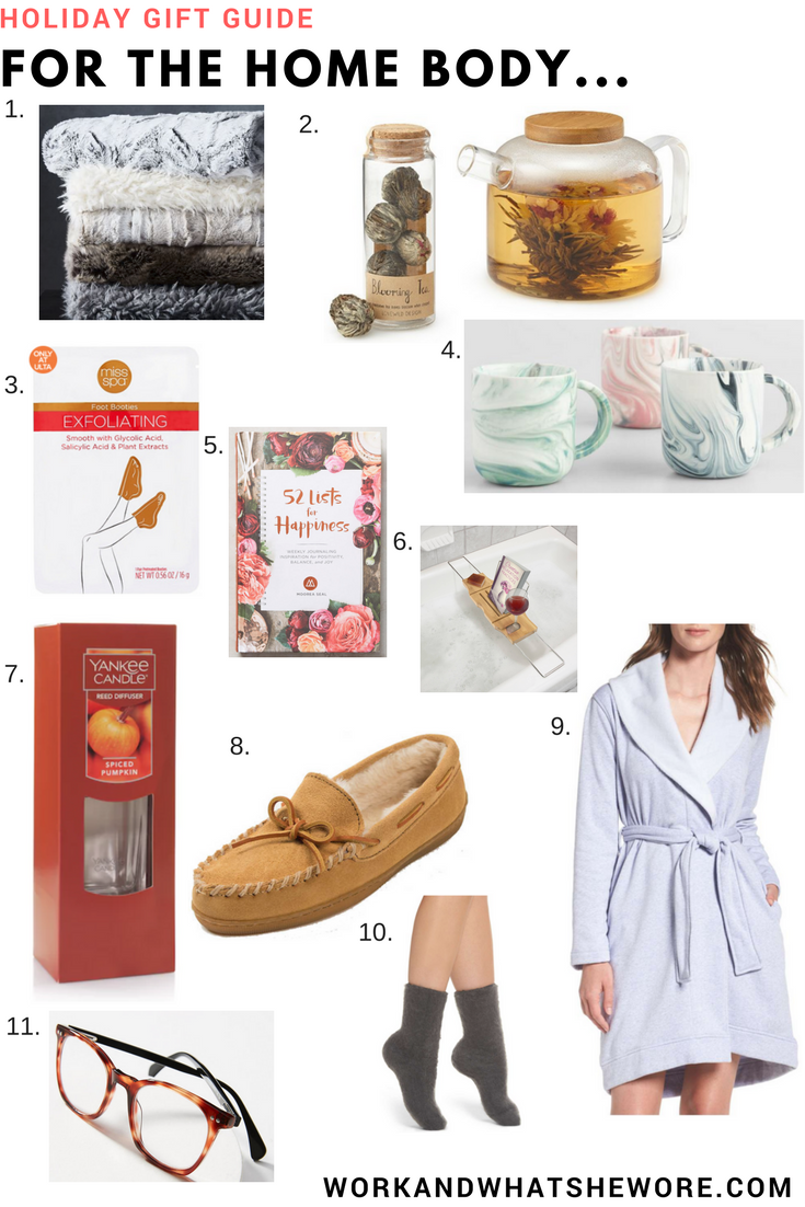 Holiday Gift Guides | For the Home Body | Work & What She Wore