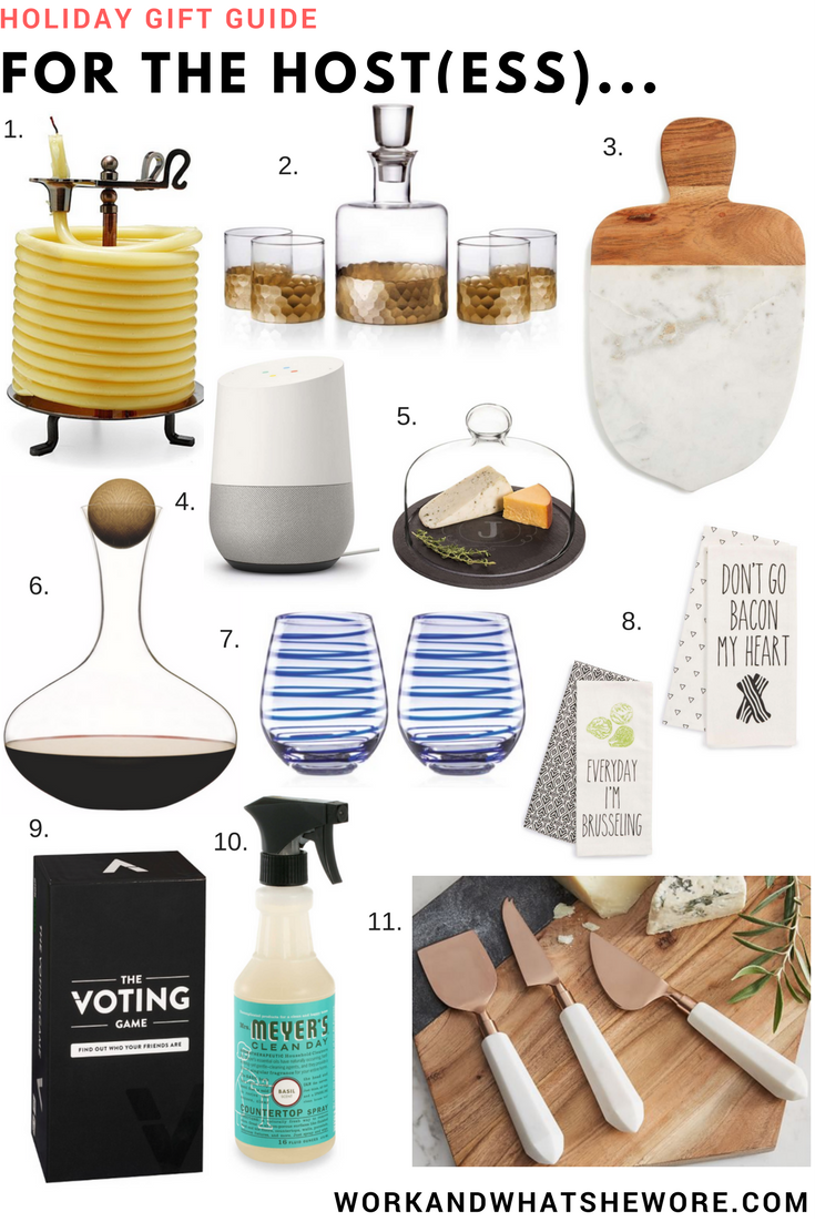 Holiday Gift Guides | For the Host(ess)... | Work & What She Wore