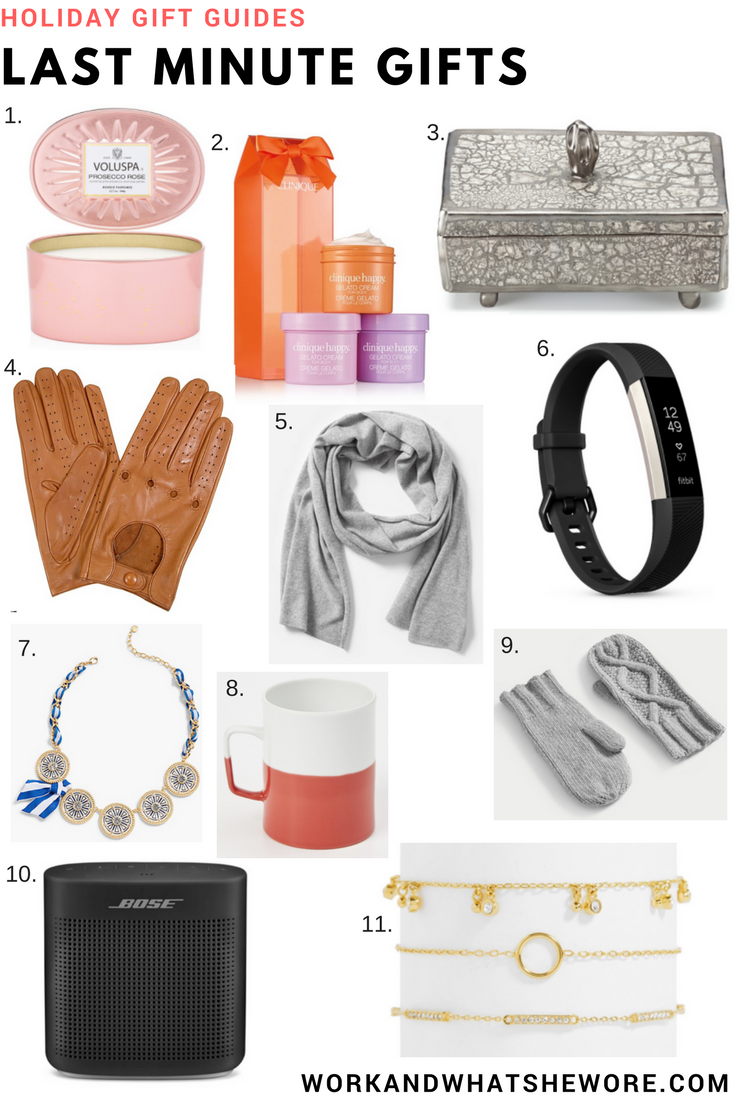 Last Holiday Gift Guide   Last Minute Gifts   Work & What She Wore