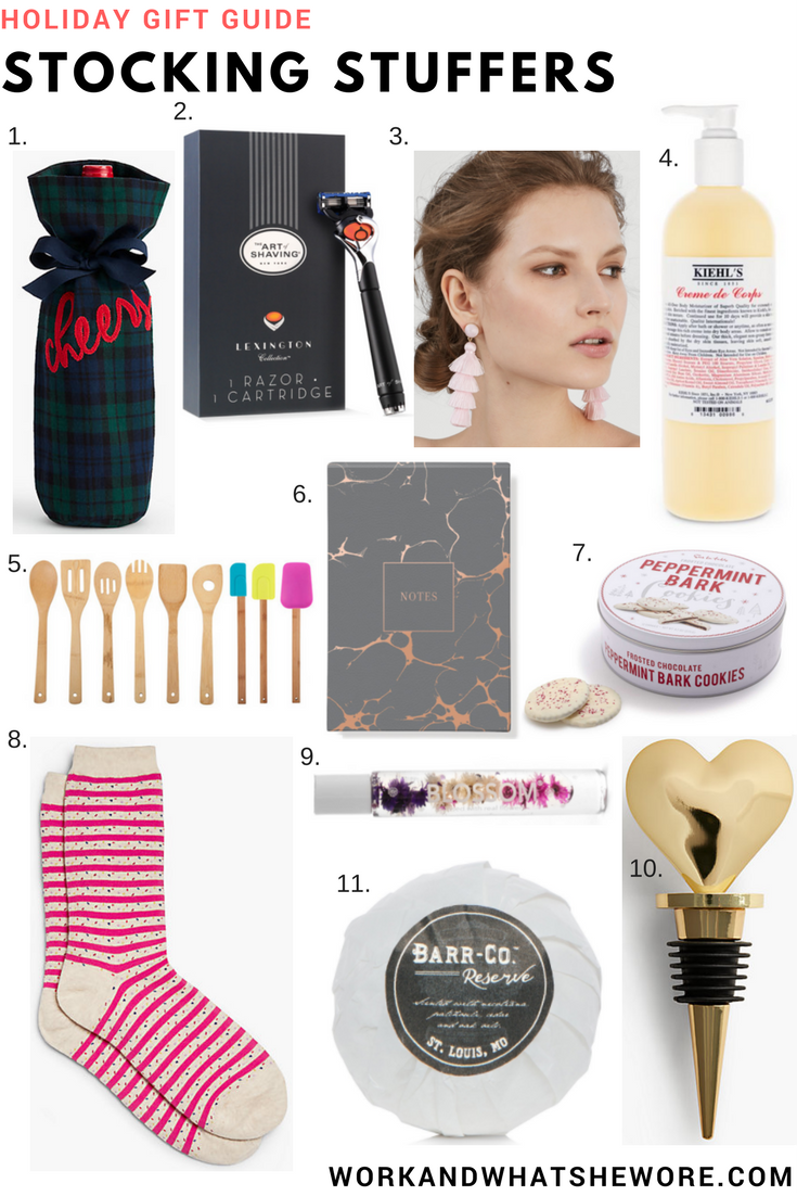 Last Gift Guide   Stocking Stuffers   Work & What She Wore