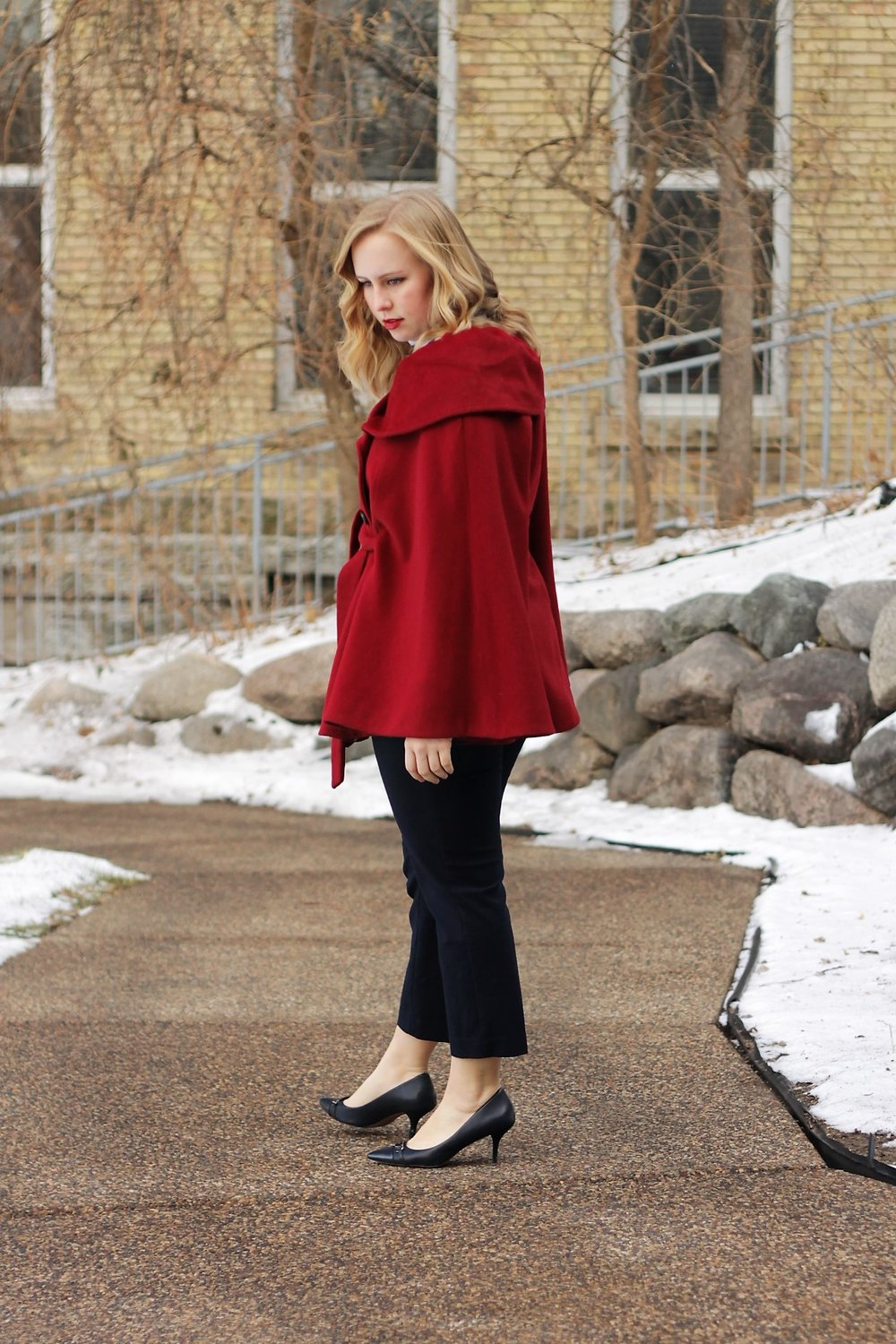 That Cape Life | Red Cape and Stripes for Winter Parties